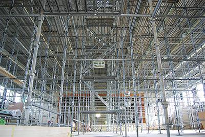 各体育館で天井工事