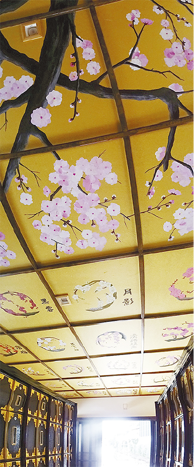 天井に幕山梅図鑑