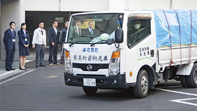 熊本への物資出発