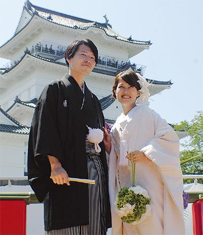 小田原城の挙式