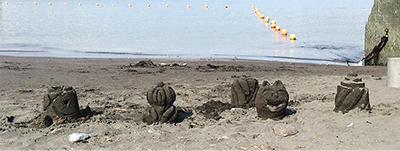 砂像作り笑いヨガ