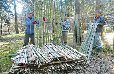 竹フェンス100基増設