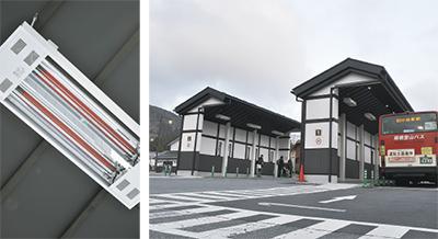 ぽかぽかのバス停誕生