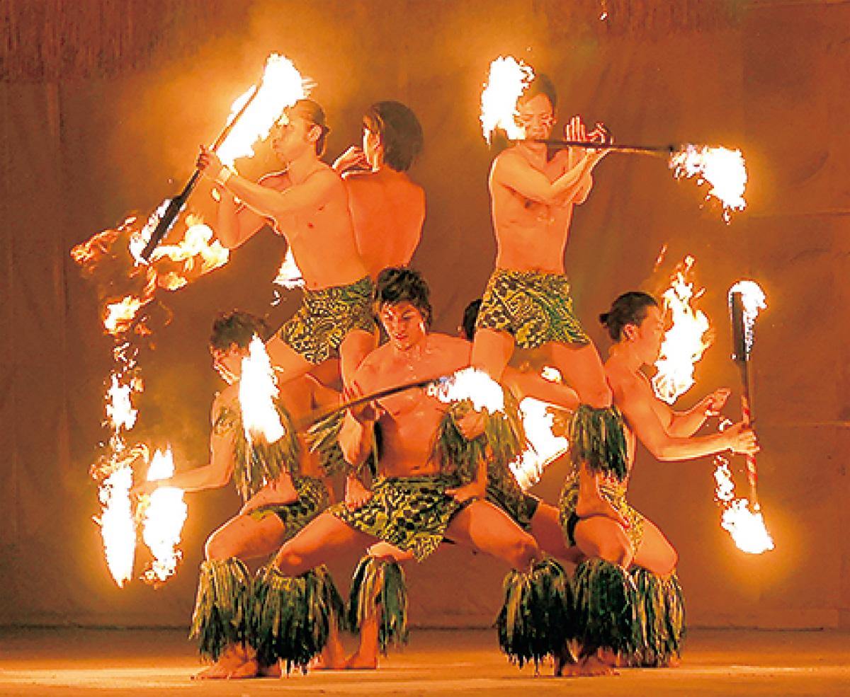 炎のダンスが真鶴に