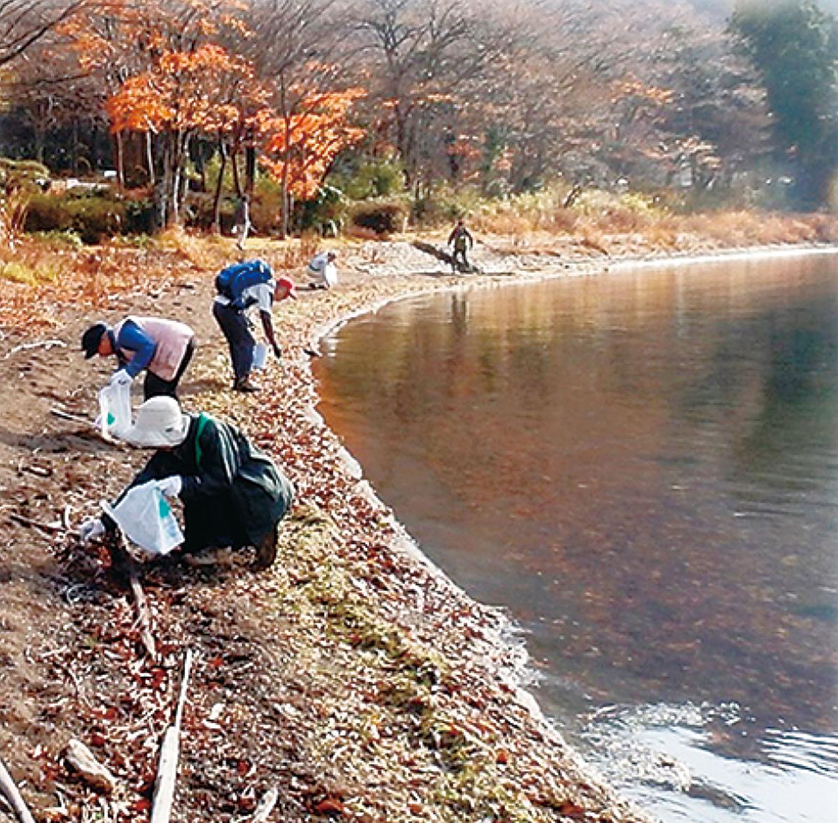 特別ランチ付き湖畔ハイク清掃