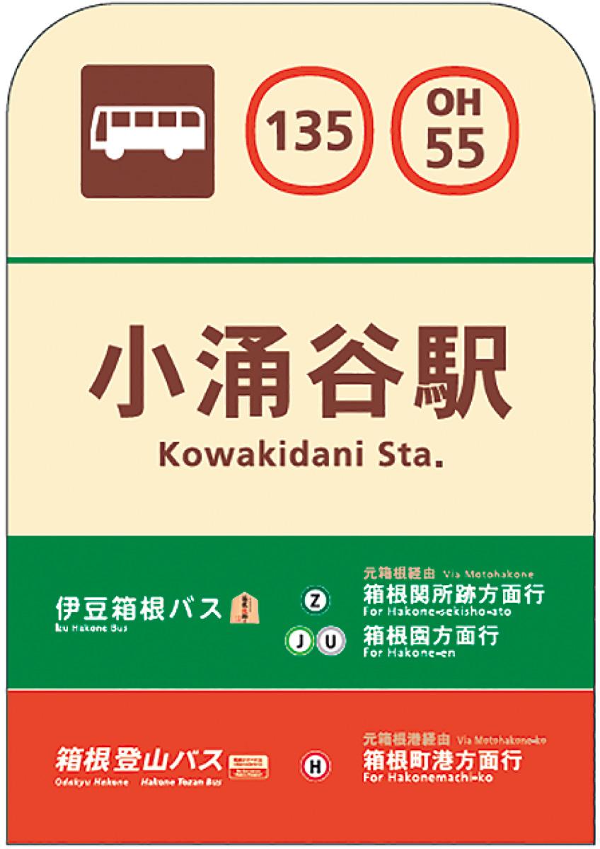 バス停ナンバー表記