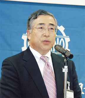 あいさつに立った石川道隆理事長