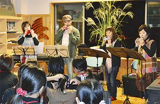 オカリナの演奏会も行われた