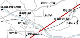 市内の中心食線(予測図)