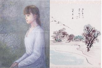 油彩と俳画