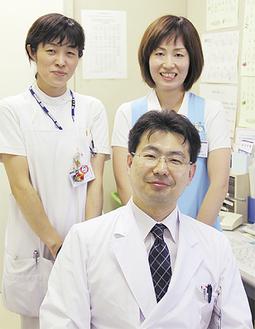竹内博樹副部長と内科スタッフ
