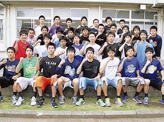 関東大会へ出場する秦野高校男子バスケットボール部