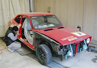 「トレノ」の修復作業が急ピッチで行われている