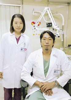 鈴木隆史副部長(右)と木口麻美子医師