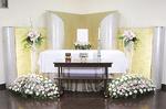 プリザードフラワーを使用する「たんざわプラン35」は少人数の葬儀に最適なプラン(遺影は含まれません)