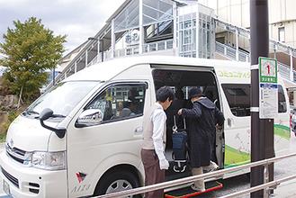 平日に市民の足として運行しているコミュニティタクシー