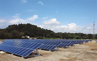 建設が進む太陽光発電設備