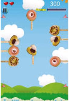 はだのドーナツアプリのゲーム画面