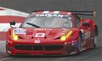 横溝選手がドライブするフェラーリ