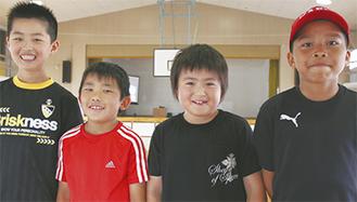 左から栗田君、瀬戸君、須藤君、和田君