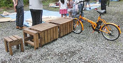 自転車が止められるサイクルベンチ