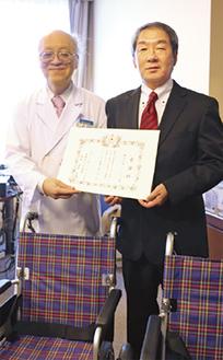 高木院長(左)と高橋執行役員