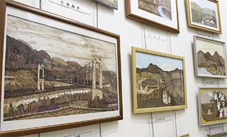 大根公民館で開催中の作品展「おち葉のささやき」