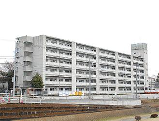 改修が進む建物