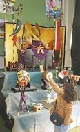 45年前のかぶと三段飾り