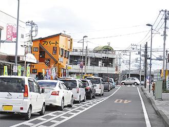 渋滞が発生する交差点(12月15日撮影)
