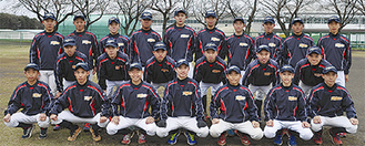 関東大会へ出場する秦野リトルシニアの選手たち