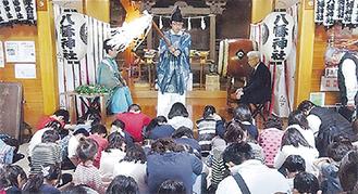 神殿は90人の子どもたちでいっぱいになった