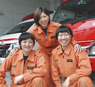 左から河合さん、木村さん、土方さん