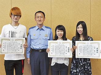 左から杉山さん、片山署長、石田さん、池田さん