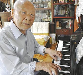 ピアノを楽しむ飯田さん