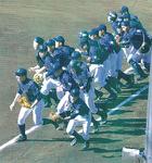 試合に臨む秦野リトルシニアの選手たち