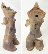 縄文後期の中空土偶が出土