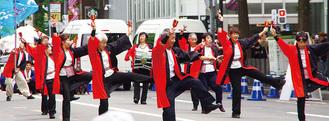 YOSAKOIソーラン祭りで演舞する湘南一道麗