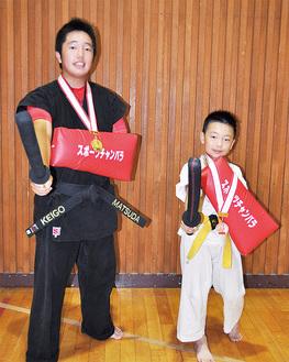 入賞した松田君(左)と金子君(右)