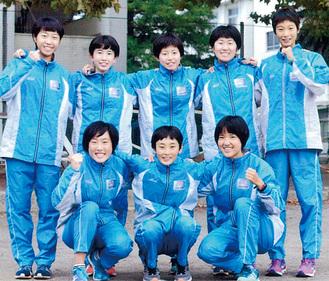 チームワークがバッチリの秦高女子陸上部の選手
