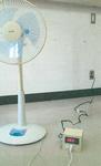 温度コンセント(右下)に扇風機などを繋ぐと、自動でON/OFFし、温度を一定に保つ