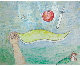 露木さん作「幸せのハンカチーフ」