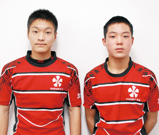 大木君(左)と小野塚君(右)