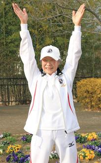 「皆さんと体操すると自分も元気になる」とにこやかに話す原田さん