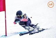 岩岳スキー大会で表彰台に