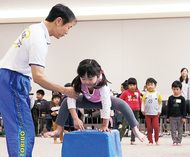 幼児対象に体操教室