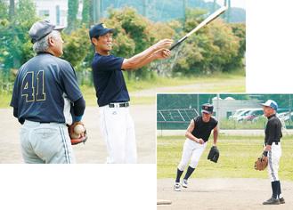 とても60歳以上には見えない秦野遊球倶楽部の選手の若さみなぎるプレー姿