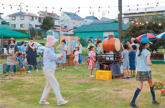 清水町での納涼祭