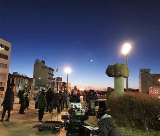 1月に行われた撮影現場の様子