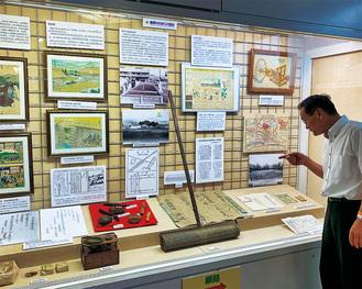 タバコ栽培の歴史や器具などが展示されている